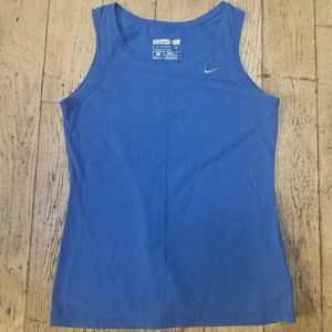 Nike Blue Sports Tank Fit Dry Size M